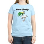 Never Give Up Stork and Frog Women's Light T-Shirt