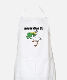 Never Give Up Stork and Frog Apron