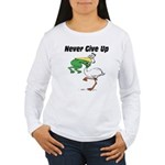 Never Give Up Stork and Frog Women's Long Sleeve T