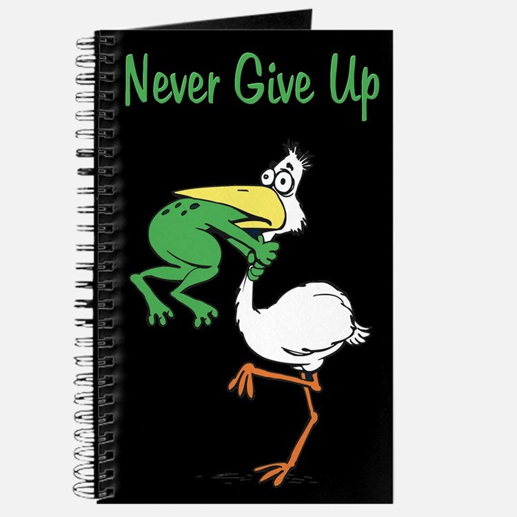 Never Give Up Stork and Frog Journal
