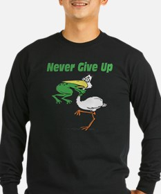 Never Give Up Stork and Frog T