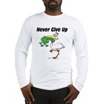 Never Give Up Stork and Frog Long Sleeve T-Shirt