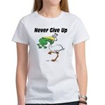 Never Give Up Stork and Frog Women's T-Shirt