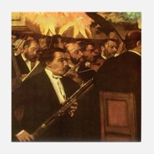 Orchestra of Opera by Degas Tile Coaster