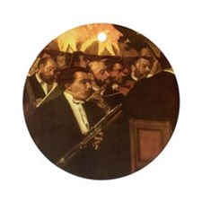 Orchestra of Opera by Degas Ornament (Round)