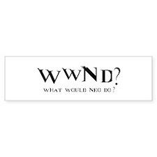 WWND? Neo Bumper Bumper Sticker