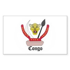Congolese Coat of Arms Seal Rectangle Decal