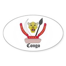 Congolese Coat of Arms Seal Oval Decal
