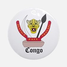 Congolese Coat of Arms Seal Ornament (Round)