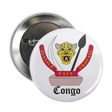 "Congolese Coat of Arms Seal 2.25"" Button"