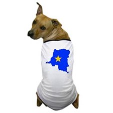 Congo Flag Map Dog T-Shirt