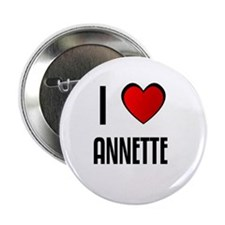 """I LOVE ANNETTE 2.25"""" Button (10 pack)"""