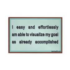 Visualize Goals Accomplished Rectangle Magnet