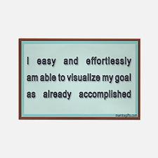 Visualize Goals Accomplished Rectangle Magnet