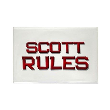 scott rules Rectangle Magnet