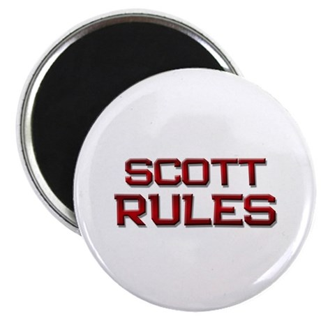 "scott rules 2.25"" Magnet (10 pack)"