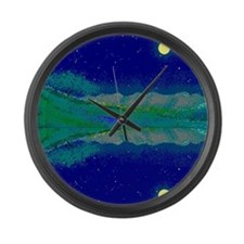 Texas Starry Night on Large Wall Clock
