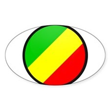 CONGO BRAZZAVILLE Oval Decal