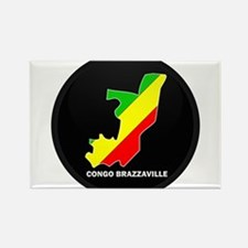 Flag Map of CONGO BRAZZAVILLE Rectangle Magnet