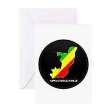 Flag Map of CONGO BRAZZAVILLE Greeting Card