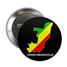 "Flag Map of CONGO BRAZZAVILLE 2.25"" Button"