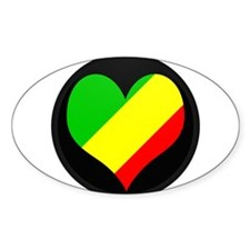 I love CONGO BRAZZAVILLE Fla Oval Decal