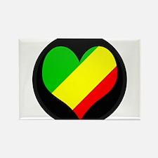 I love CONGO BRAZZAVILLE Fla Rectangle Magnet