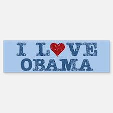 I Love Obama Bumper Bumper Bumper Sticker