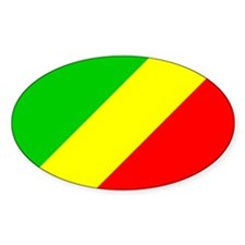 CONGO BRAZZAVILLE Flag Oval Decal