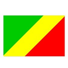 CONGO BRAZZAVILLE Flag Postcards (Package of 8)