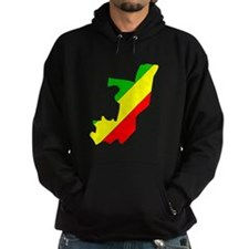 CONGO BRAZZAVILLE Flag Map Hoodie
