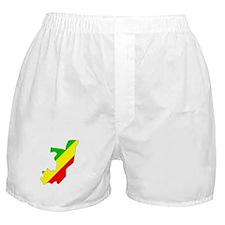 CONGO BRAZZAVILLE Flag Map Boxer Shorts
