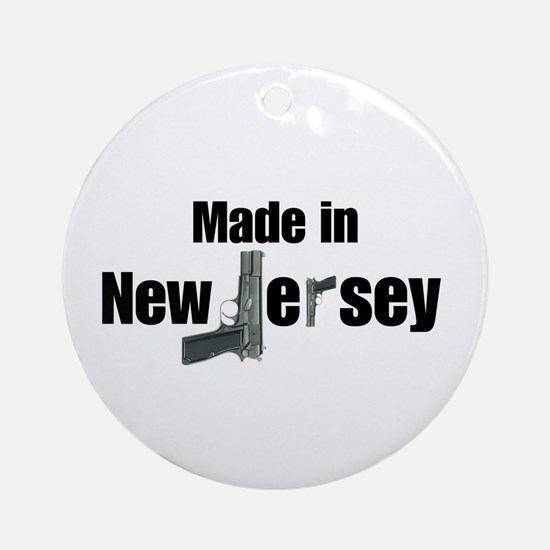 Made in New Jersey Ornament (Round)