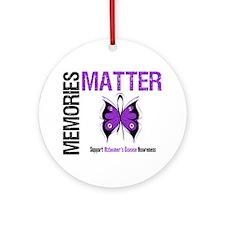MemoriesMatter Alzheimer's Ornament (Round)