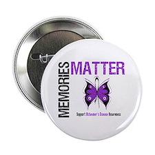"""MemoriesMatter Alzheimer's 2.25"""" Button"""