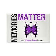 MemoriesMatter Alzheimer's Rectangle Magnet (10 pa