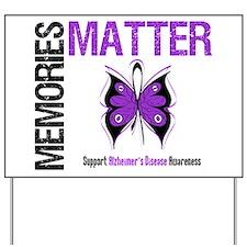 MemoriesMatter Alzheimer's Yard Sign