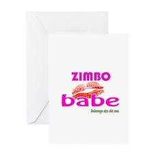 African Zimbo Babe Greeting Card