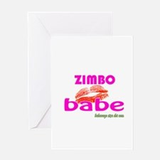 African Zimbo Babe Greeting Card