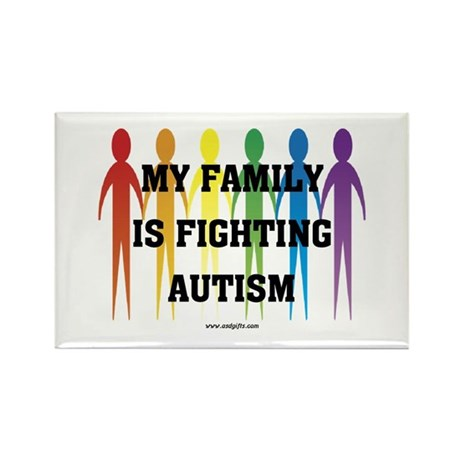 Fighting Autism Rectangle Magnet
