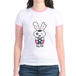 Hug Me Gothic Bunny Jr Ringer T-Shirt - LOOK BACK!