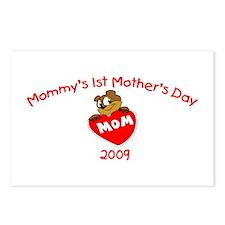 Mommy's 1st Mother's Day 2009 (Bear) Postcards (Pa
