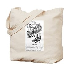 03/28/1909: Teddy to Africa Tote Bag
