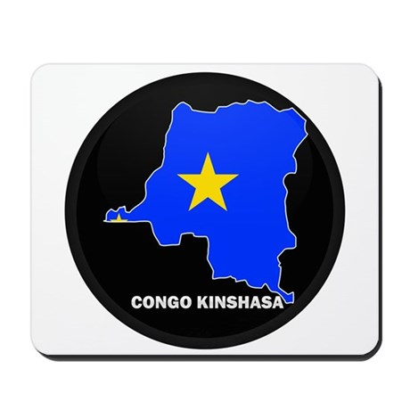 Flag Map of CONGO KINSHASA Mousepad