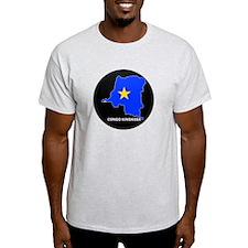 Flag Map of CONGO KINSHASA T-Shirt