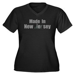Made in New Jersey Women's Plus Size V-Neck Dark T