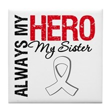 Lung Cancer Hero Sister Tile Coaster