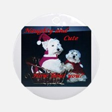 Credible Critter Westie Christmas Ornament (Round)