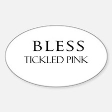TICKLED PINK Oval Decal