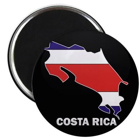 Flag Map of Costa Rica Magnet